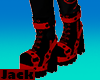 Black and Red Boots