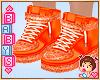 ! Kids Orange Shoes *