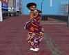 xxl afro print bodysuit