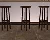 3 Wood Barstools
