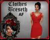 BS*AF RED Twist Dress