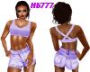 HB777 Shorts Set Lavendr