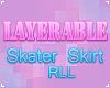 . skater skirt layer