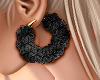 💛 Black Fur Hoops