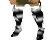 Blk Slv Guantlet Boots