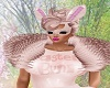 Pink Easter Bunny Mask