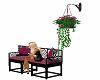 pinks flower basket