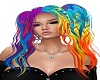 rainbow harley hair