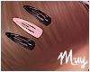 ! Hair clips blck & pink