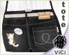 ! Vici-Denim Tote Black