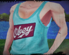 C:. Obey Tank Top M Blue