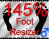 *M* Foot Resizer 145%