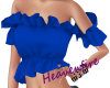 ^HF^ Blue solid Ruffle