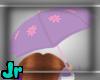 purple flower unbrella