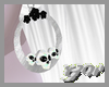 Opal Onyx Skull Hoops