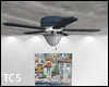 Animated ceiling fan