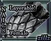[zillz]DragonNails Black