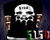 5150 White Skull Shirt