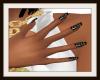 Black/Gold Slender Nails