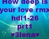 How deep is ur love rmx1