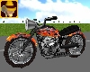 Flaming Animated Motorbi