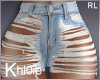 K O my ripped shorts RL