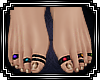 Blackened Toe Rings