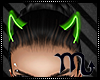 ♫GREEN Neon Horns