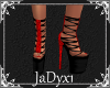 Laced Platform Shoe-red