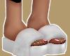 , White Fur Slides