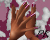 HD dark pink nails