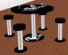Playboy table & stools