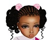 kids baby hair pink bow