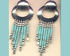 [AM]SilvTurquoiseEarring
