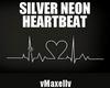 Silver Neon Hertbeat