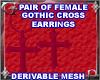 Gothic Cros Earings Mesh