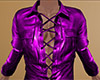 Lavender Leather Shirt M