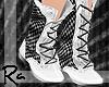 [Ra] White Checker Boots