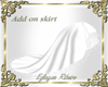Add on skirt gown white