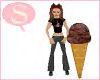 S. Ice cream cone C.