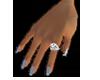 Silver Finger Nails