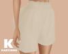 Cream High Waist Short
