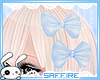 Double Hair Bows Blue