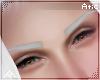 •| White brows
