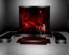 }CB{ Red Smoke Sofa