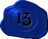 13 Blue with Black 13