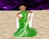 Green White Dress
