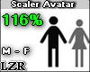 Scaler Avatar M - F 116%
