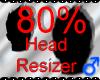 *M* Head Resizer 80%