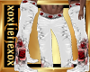 [L] White Rosses Pants M